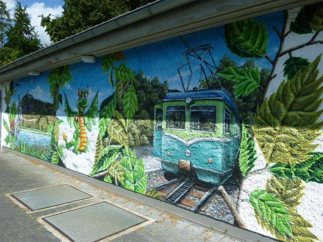 Welcome-Graffiti im Lemmerzbad!