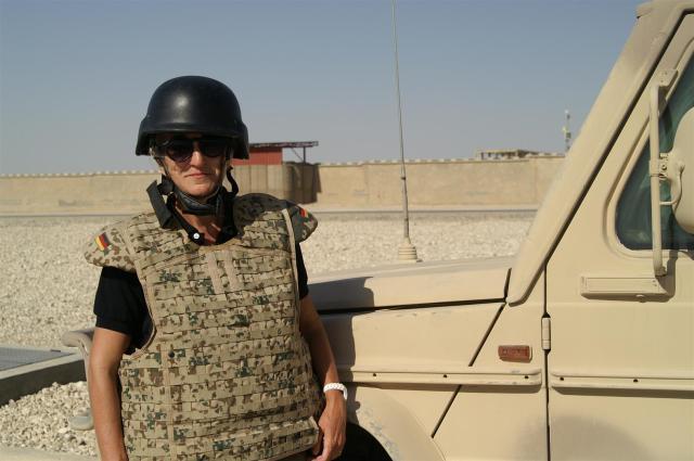 Als Journalistin in Afghanistan (Camp Marmal, Masar-e Sharif).