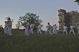 Outdoor Karate.