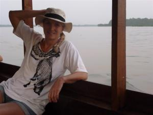 Boat trip on the Mekong.