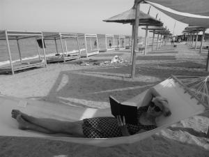 At a beach in Romania.