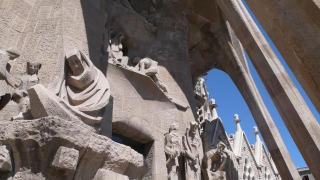 Facade of La Sagrada Familia.
