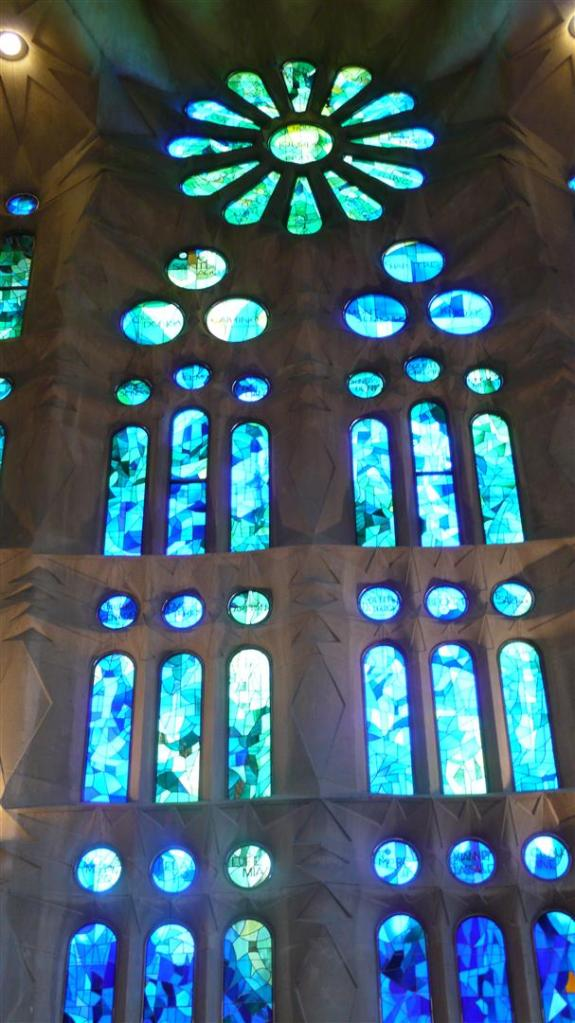 Interior of La Sagrada Familia.