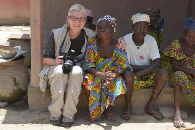 Als Journalistin in Togo./On a journalist travel in Togo.