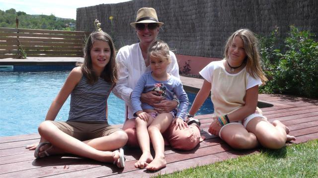 Familientreffen in der Nähe von Barcelona./Family meeting near Barcelona.