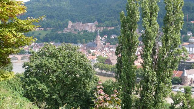 Besuch einer Freundin in Heidelberg./Visiting a friend in Heidelberg.