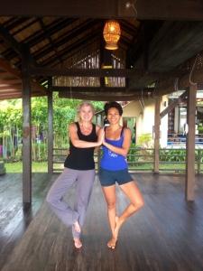 Mit Yoga-Lehrerin Summer.