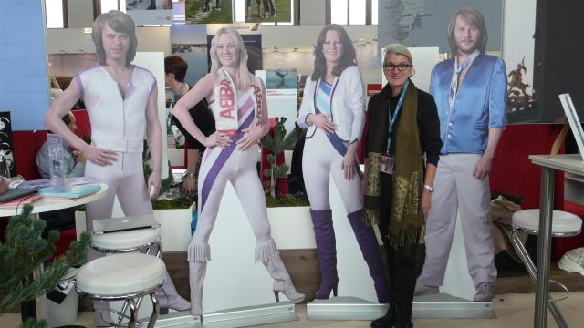 Promoting the new ABBA museum in Stockholm/Sweden.
