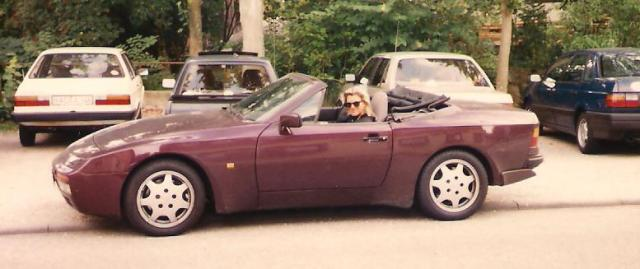 Ein Jahr später: Der Porsche 944. Meine Abschiedsfahrt, bevor es zum Studium nach USA geht.
