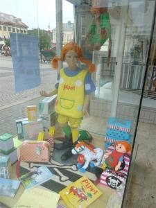 In Vimmerby ist Pippi überall.