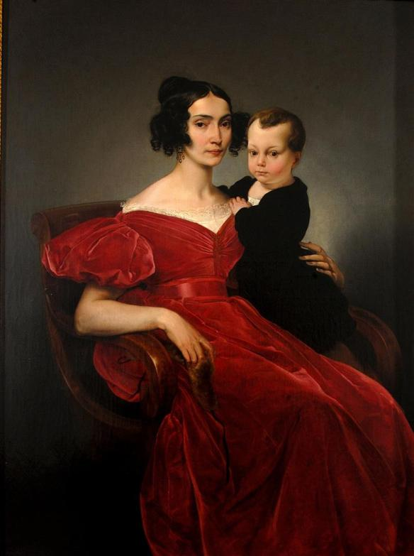 Francesco Hayez:  Portrait of Teresa Zumali Marsili with son Giuseppe, 1833,  Museo Civico Lodi.