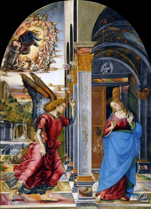 Luca Signorelli: Annunciazione, 1491, Pinacoteca Civica  Volterra.