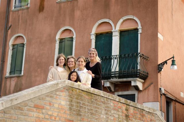 Mit meinen Freundinnen in Venedig.