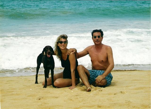 Kim ist bei uns. Das erste Foto mit ihm am Strand von Grand Popo, Benin.