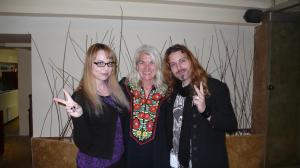 With singer Sophia (left) and her friend.