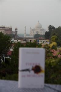 Gelesen mit Blick auf das Taj Mahal.