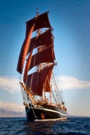 "Die ""Eye of the Wind"". Foto: FORUM train & sail."